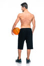 Back view portrait of a basketball player Royalty Free Stock Photo