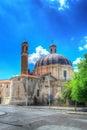 Back view of santa maria church in sassari sardinia Stock Photography