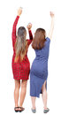 Back view of two dancing young women Royalty Free Stock Photo