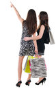 Back view of two woman with shopping bag Royalty Free Stock Photos