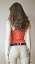 Back view of young beautiful woman Stock Image