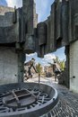 Back of the Warsaw Uprising Monument in Warsaw Royalty Free Stock Photo