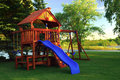 Back Yard Play Structure Stock Photo