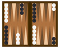 Backgammon Board Game Stock Images
