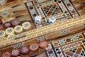 Backgammon game Royalty Free Stock Photo