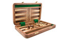Backgammon the is photographed on the white background Royalty Free Stock Images
