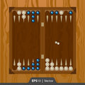 Backgammon set for game development interface design in two colors Royalty Free Stock Photo