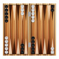 Backgammon on a white background Royalty Free Stock Photography