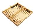 Backgammon wood over white background Stock Image