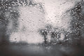 Backgrouds of water drops on the car windshield Royalty Free Stock Photo