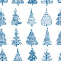 Background with the christmas trees