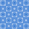 Background with abstract blue pattern repeating Royalty Free Stock Images