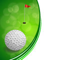 Background abstract golf sport green red flag white ball frame illustration Royalty Free Stock Photo