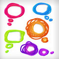 Background of abstract idea scribble bubbles. Stock Images