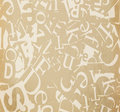 Background abstract paper with letters Stock Image