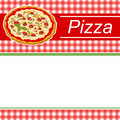 Background abstract red menu pizza green stripes frame illustration Royalty Free Stock Photo