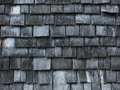 Background of aged wooden shingles Royalty Free Stock Photo