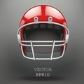 Background of American football helmet vector Stock Image