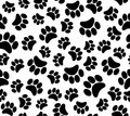 Background animal footprints seamless pattern the s illustration Royalty Free Stock Photography