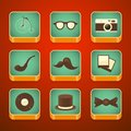 Background for the app icons set hipster items with vector illustration Royalty Free Stock Photos