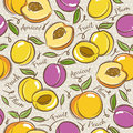 Background with apricot, plum and peach Royalty Free Stock Photo