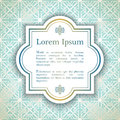 Background with arabesque decor girihl pattern in blue color Royalty Free Stock Photography