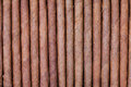 Background from arrange of cigars brown Stock Images