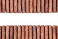 Background from arrange of cigars brown Stock Photos