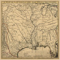 Background Art Ancient Map Louisiana Royalty Free Stock Photo