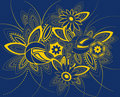 Background in art nouveau style. Royalty Free Stock Images