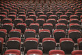Background of auditorium seats a image hundreds empty waiting to be filled with people before an event Royalty Free Stock Images