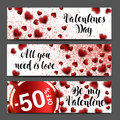 Background banner set. Sale header or banner set with discount Royalty Free Stock Photo