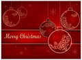 Background with baubles & text Royalty Free Stock Photos