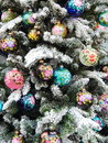 Background beautiful christmas toys on the fir tree decorative as a сoncept of new year holiday and Royalty Free Stock Images
