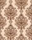 Background with beige damask Stock Images