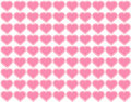 Background big hearts pink seamless Arkivfoton
