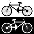 Background with bikes silhouettes of illustration Stock Photo
