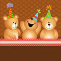 Background birthday teddy bears