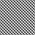 Background black cross gingham seamless weave Obraz Royalty Free