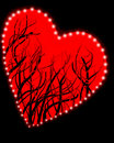 Background black heart red Στοκ Εικόνες