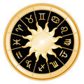 Background black signs sun zodiac Стоковое фото RF