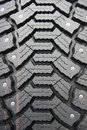 Background of black winter tyre Stock Photo