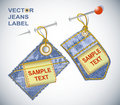 Background blank jeans vector label Royalty Free Stock Photos
