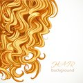 Background with blond curly hair Stock Image
