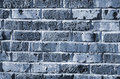 Background of blue brick wall detail Royalty Free Stock Photo