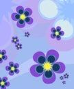Background blue flowers Στοκ Φωτογραφίες
