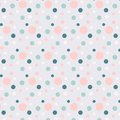 Background with blue and pink dots on blue