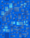 Background with blue rectangulars. Vector illustration Royalty Free Stock Image