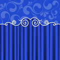 Background blue theater curtains Royalty Free Stock Photo