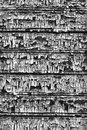 Background of the boards with peeling paint from board in black and white Royalty Free Stock Photo